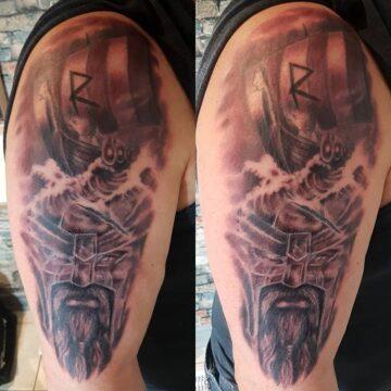 viking sleeve tattoo